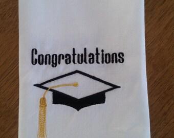 Graduation Cap CONGRATULATIONS cloth Napkins Set of 4