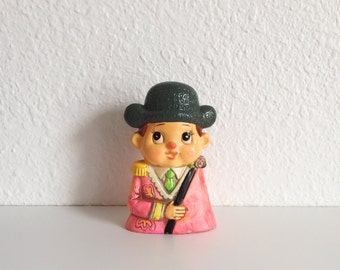 Vintage Piggy Bank / Colorful Piggy Bank / Matador Figurine