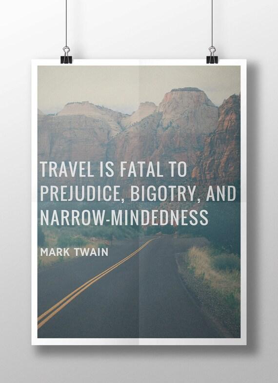 Mark Twain Travel Quote Printable 8 x 10 Instant