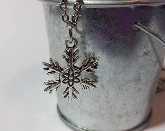 Snowflake With Internal Symbol Necklace