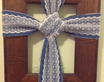 Wood frame cross