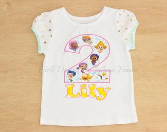 Bubble Guppies Birthday Shirt, Bubble Guppies Shirt, Bubble Guppies Personalized Shirt, Girls Bubble Guppies Shirt, Birthday, Bubble Guppies