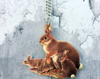 Rabbit and Kits Necklace