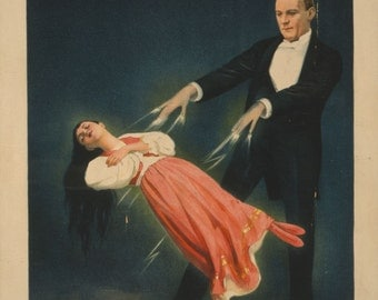 Kellar - stage magician. Victorian Magic poster.