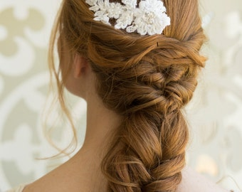 Bridal Lace Hair Comb, Wedding Lace Headpiece, wedding hair accessories, Bridal Hair Comb, Lace Wedding Hair Comb, Vintage Lace  Hair Comb
