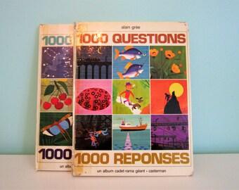 1000 questions, 1000 réponses : volume 1 by Alain Grée - Vintage French Children Book