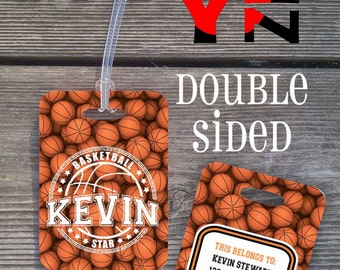 Personalized Bag Tag // Personalized Sports Bag Tag // Basketball Backpack Tag // BT