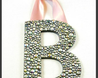 Bling Nursery Letter, Rhinestone Nursery Letter, Bling Wall Art, Bling Initial,  Bling Nursery Decor, Bling Letter Wall Decor, Bling Baby