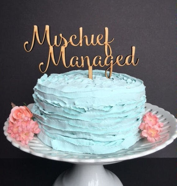 Etsy Mischief Managed Cake Topper