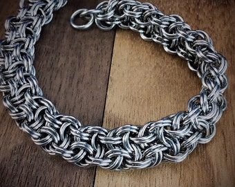 Kinged Vipera Berus Stainless Steel Chainmaille Bracelet