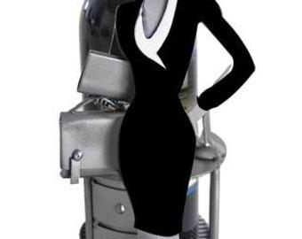 Executive Female Silhouette Wine Bottle Holder