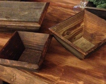 HAND MADE BOWLS!  One of a kind, hand made bowls.  Made from 100-year old pine barn siding