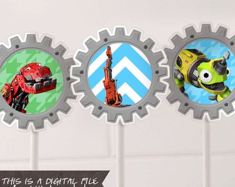 Dinotrux Cupcake Toppers