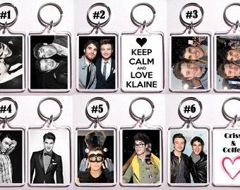 Darren Criss & Chris Colfer Klaine Keychain Key Ring - Many Designs To Choose From Gay Interest Item LGBT