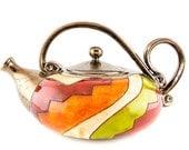 Colorful 40oz Ceramic teapot, Pottery teapot, handmade ceramic teapots, Ceramics and pottery,  teapot set, teapot ceramic metallic teapot