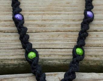 Handmade Spring Butterfly Hemp Necklace