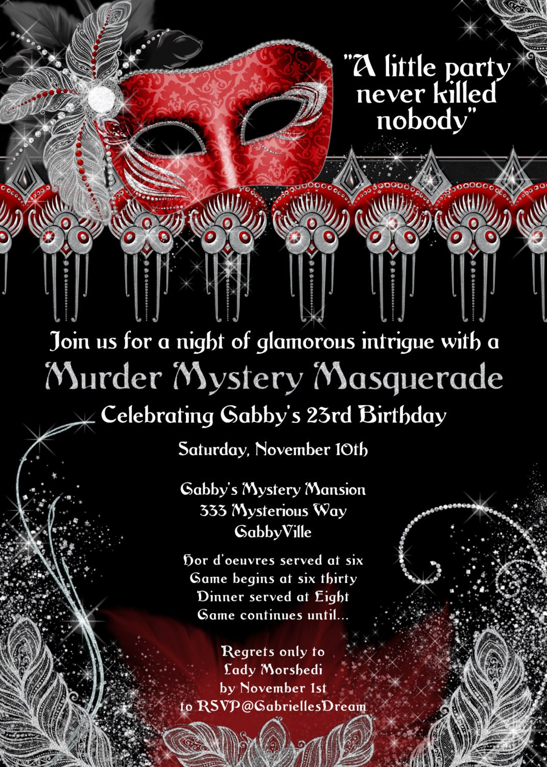 Halloween Themed Murder Mystery Party