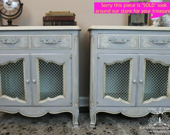 SOLD - John Widdicomb French Provincial Nightstands only Sold as Pair