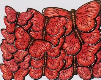 Red Butterfly Stickers