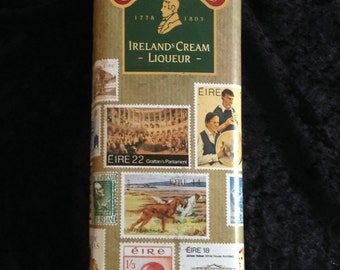 Emmets Irish Cream Liqueur/Stamps of Ireland Tin/Emmet's Decanter