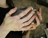 2 Knuckle Ring DEAL - Sustainable Sterling Silver Stacking ring. Handmade in Canada. - eco-friendly - fair trade