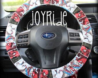 Steering Wheel Cover Spiderman Spidey  Comic Book