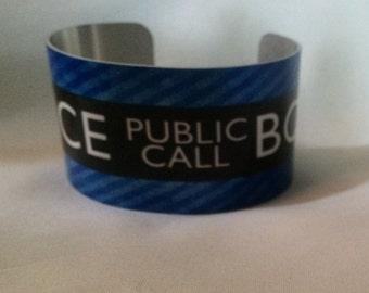 TARDIS Doctor Who Police Public Call Box Cuff Bracelet