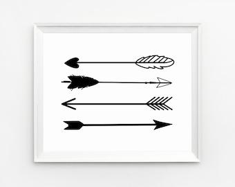 Arrow Wall Art, Prints, Arrow Art, Wall Art Prints, Arrow Decor, Wall Art, Printable, Arrow Print, Art Print, Black and White Art, Arrow