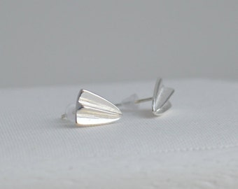 SALE! Sterling Silver 925  Earrings, Airplane Silver Post Earrings, Silver Studs, Airplane Earrings