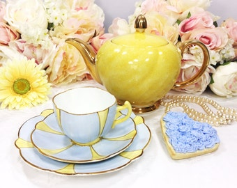 Allertons Old English Bone China Tea Trio, Floral Flower English Tea Cup, Saucer, Plate For Tea Time, Tea Party #A112