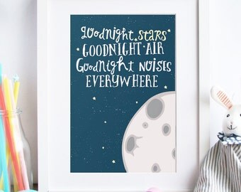 Nursery art print, baby print, nursery print, nursery art, baby room, kids room Print - Good Night Moon