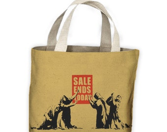 Banksy Sale Ends Today Tote Shopping Bag For Life