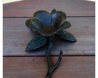 Solid Brass Flower Candle Holder