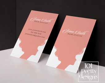 Hair stylist business card template printable business card design pink business card hairdresser business cards appointment calling card