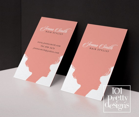 Hair stylist business card template printable business card design il570xn fbccfo Image collections
