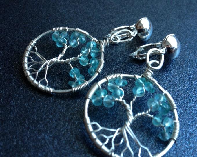 Gemstone Clip On Earrings Personalized Aquamarine Jewelry Personalized Clip On Earrings March Birthstone Aquamarine Birthstone Earrings