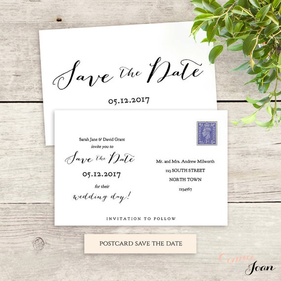6x4 postcard template postcard save the date template 6x4 printable save the date