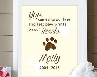 Custom Pet Memorial with Quote, Dog Memorial digital print, printable art, Dog lover, Pet Gift, In memory of, Pet Memorial (Digital file)