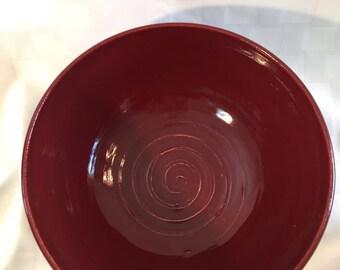 Crimson ceramic bowl