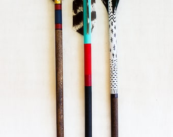 Mini Wooden Arrow Hand Painted  - You Chose One Set