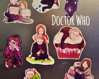 Doctor Who 10/11/12/Clara Magnets!