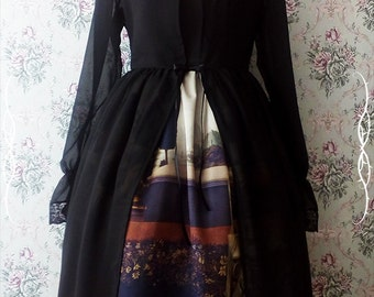 Chiffon lacy lolita overdress