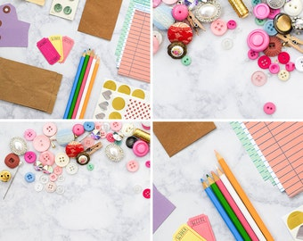 DIY Stock Photos for Crafters | Craft & DIY Styled Stock Photography | Set of 4 Hi-Res Images