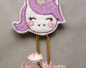Unicorn Paper Clip in Lilac