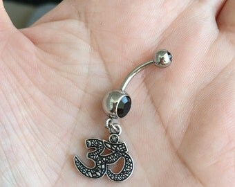 Silver Ohm Belly Ring. P2.