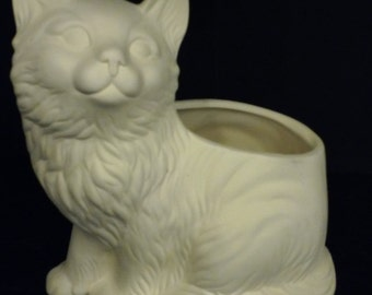DIY Ceramic Cat Planter Unfinished or Finished (see Options and Description) catch all, decoration, decor