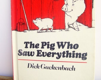 Children's Books, The Pig Who Saw Everything, Books for Kid's, 1970's