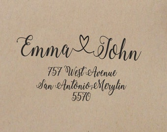 Wedding  Stamp  Custom  Stamp  Wedding Rubber Stamp Wedding Stamp Self Inking  Return Address Stamp