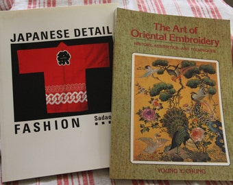 Set of Two Oriental Fashion/Embroidery books