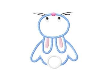 Applique Machine Embroidery Design Baby Bunnie